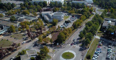 Vue aérienne du campus du Madrillet